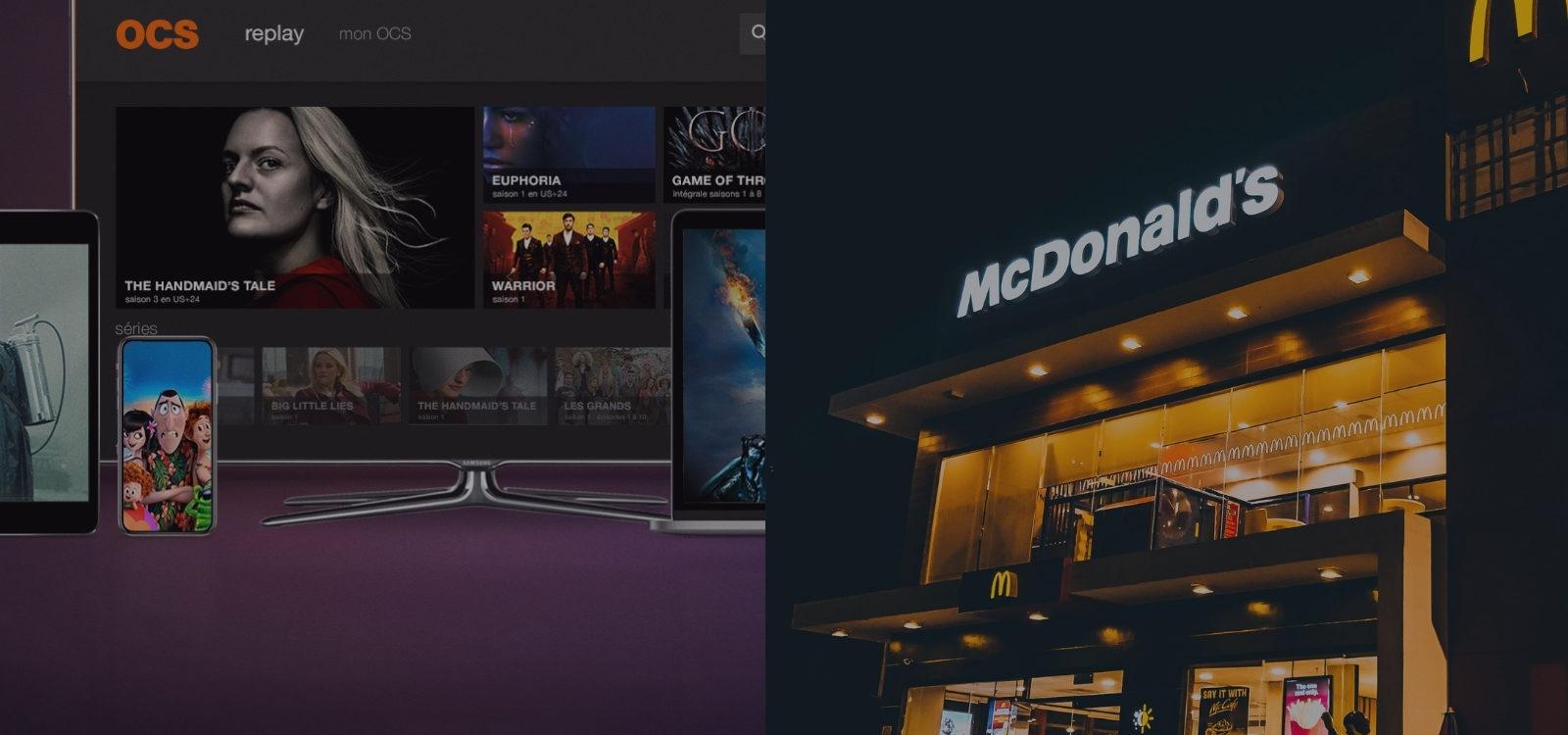 McDonald's et OCS : deux poids, deux mesures